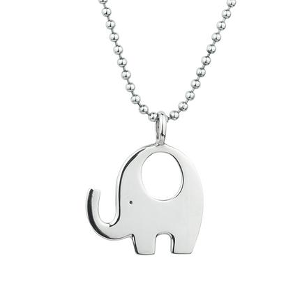 Sterling Silver Elephant Pendant - Large