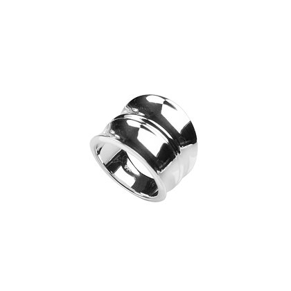 Sterling Silver Ring - Wide Bamboo Design