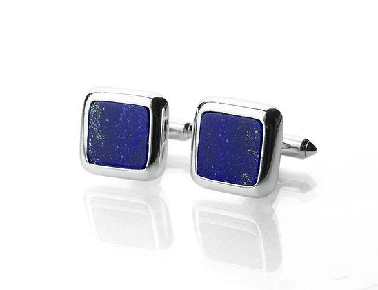 Sterling Silver Lapis Lazuli Cufflinks