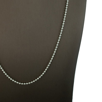 Sterling Silver Round Ball Necklace -