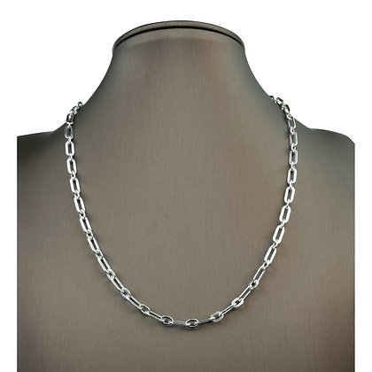 Sterling Silver Flat Long Cable Chain