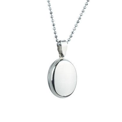 Sterling Silver Oval Locket -Flat