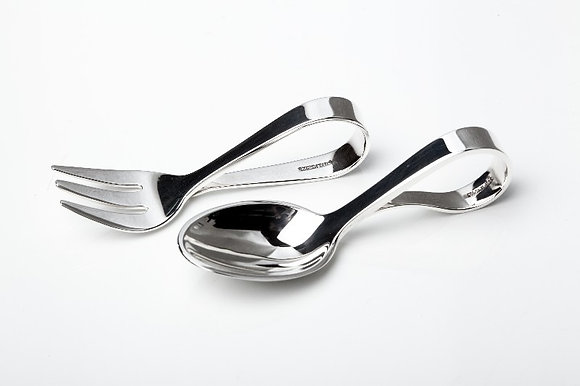 Sterling Silver Baby Spoon and Fork