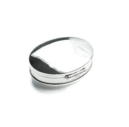 Sterling Silver Oval Box - Large