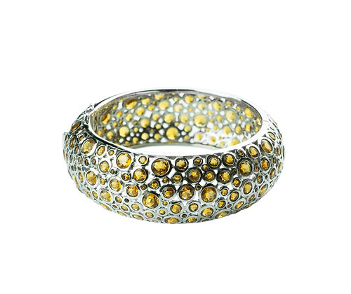 Sterling Silver Citrine Bangle
