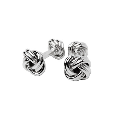 Sterling Silver Knot Cufflinks -Small