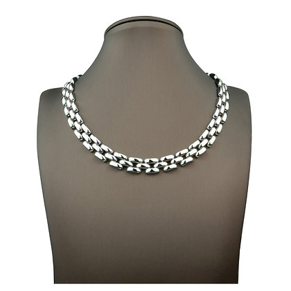 Sterling Silver Wide Band Necklace