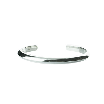 Sterling Silver Cuff Bangle -Triangle