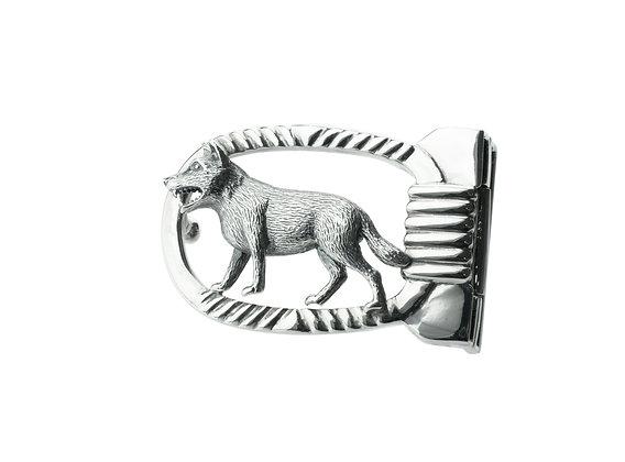 Sterling Silver Woof Belt Buckle