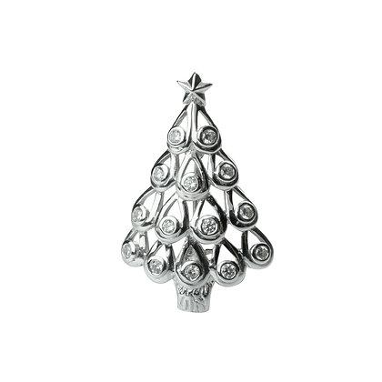 Sterling Silver Xmas Tree Brooch