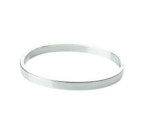 Sterling Silver Hinge Bangle - 6 mm Oval