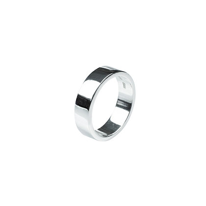 Sterling Silver Thick Band Ring - 5 MM Flat