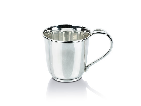 Sterling Silver Baby Cup - Designed Handle