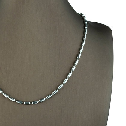 Sterling Silver Long Capsule Necklace