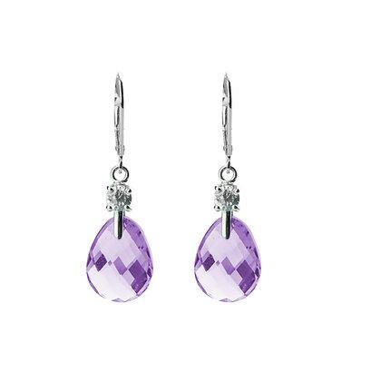 Sterling Silver Double-sided Amethyst Earrings