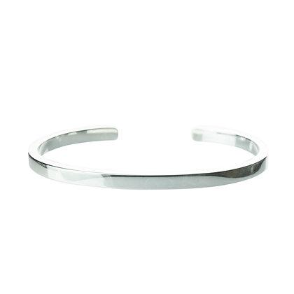 Sterling Silver Cuff Bangle - Flat 4 mm