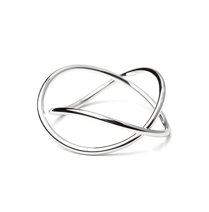 Sterling Silver Wire Bangle