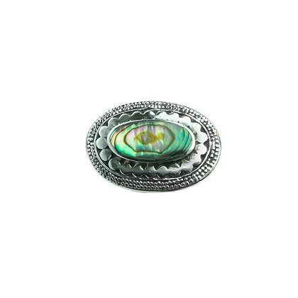 Sterling Silver Abalone Shell Brooch