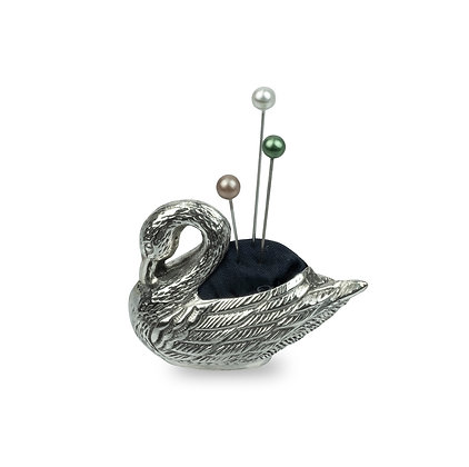 Sterling Silver Swan Pin Pillow