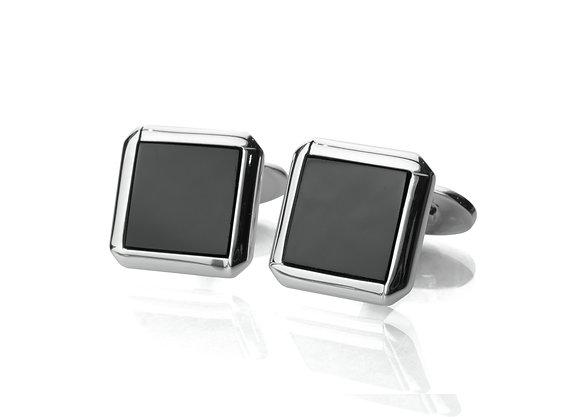 Sterling Silver Black Onyx Cufflinks