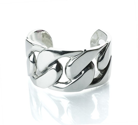 Sterling Silver Curb Bangle