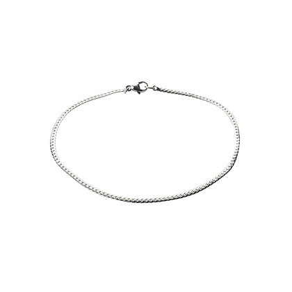 Sterling Silver Thin Men's Bracelet