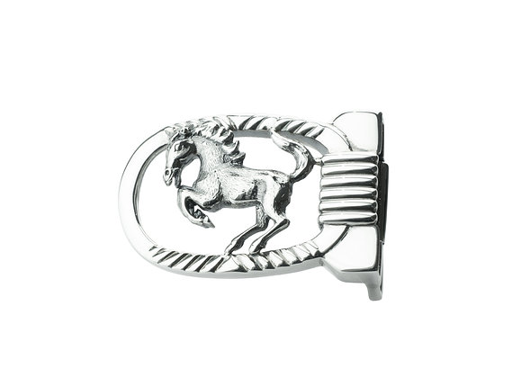 Sterling Silver Horse Belt Buckle