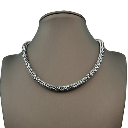 Sterling Silver Bead Hand Woven Necklace
