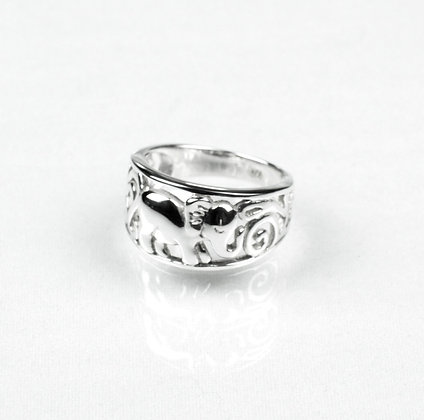 Sterling Silver Lucky Elephant Ring