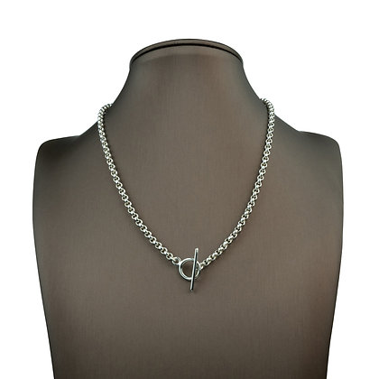 Sterling Silver Toggle Rolo Necklace