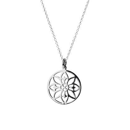 Sterling Silver Chakra Mantra Pendant