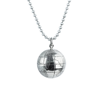 Sterling Silver Chime Globe Pendant - Small