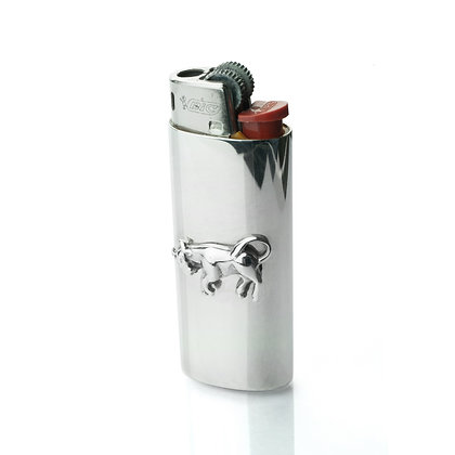 Sterling Silver Lighter with Bull