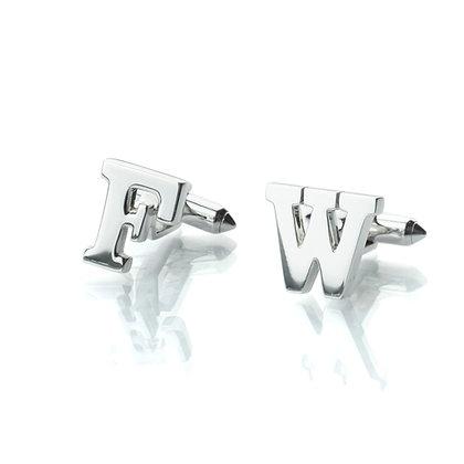 Sterling Silver Alphabet Cufflinks
