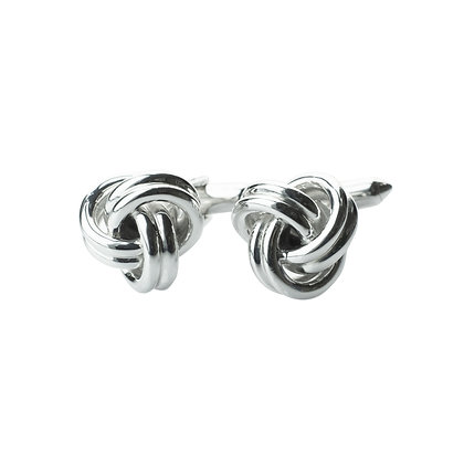 Sterling Silver Knot Cufflinks