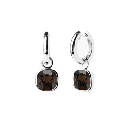Sterling Silver Smoky Quartz Earrings - Detachable