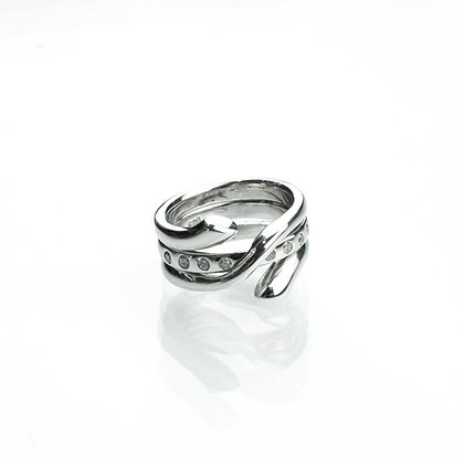 Sterling Silver Ring with Removable Guard