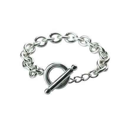 Sterling Silver Oval Bracelet