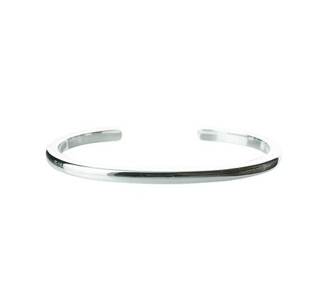 Sterling Silver Cuff Bangle - Curve 4 mm
