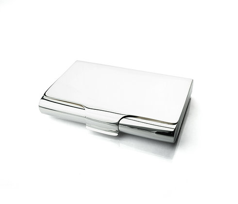 Sterling Silver Business Card Case - Thick