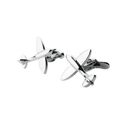 Sterling Silver Airplane Cufflinks
