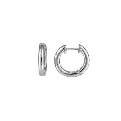 Sterling Silver Solid Hoop Earrings