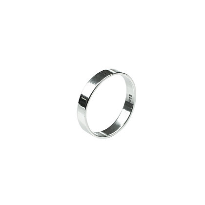 Sterling Silver Light Band Ring - 3 mm Flat