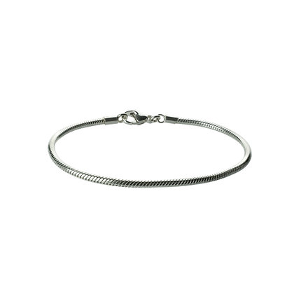 Sterling Silver Snake Chain Bracelet - Thin