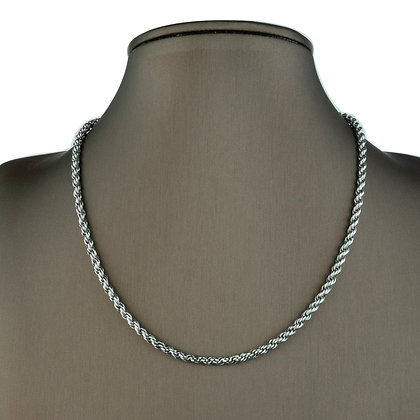 Sterling Silver  Rope Chain -3.5 MM