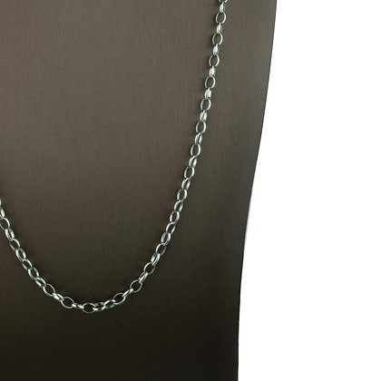 Sterling Silver Thin Oval Link Necklace