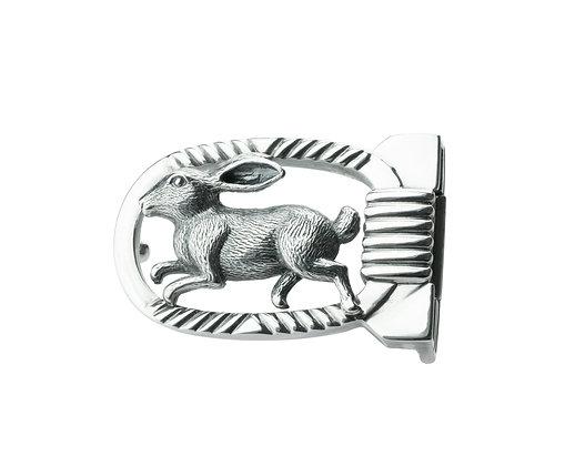 Sterling Silver Rabbit Belt Buckle