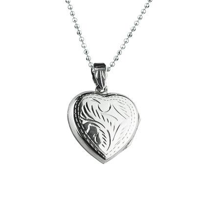 Sterling Silver Heart Locket - Large