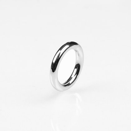 Sterling Silver 4 mm Round Ring