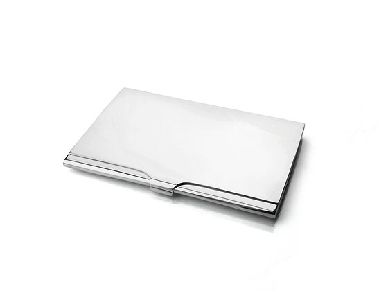 Sterling Silver Business Card Case -Thin